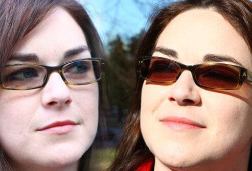 Photo of transitional lenses.