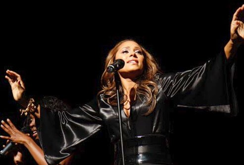 Singer Tamia Hill.