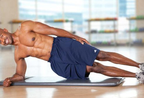Photo of side plank exercise.