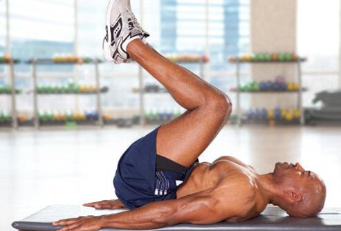 The reverse crunch targets the lower abs, which are tough to tone.