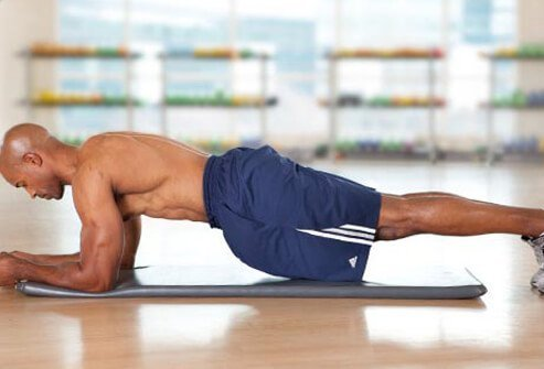Photo of front plank exercise.