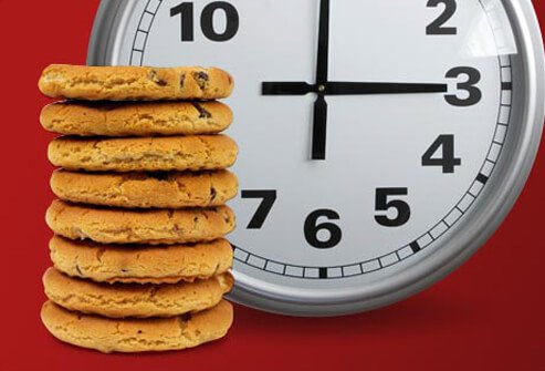 Photo of cookies and clock.