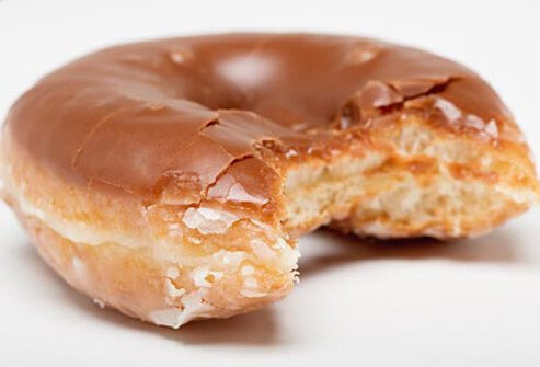Photo of glazed doughnut.