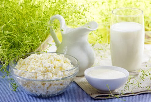 One the most important components of skin health is vitamin A from low-fat dairy products.