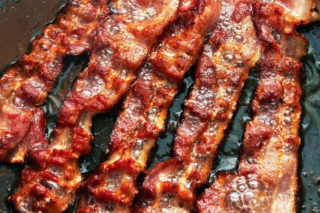 Saturated fat, salt, and preservatives in bacon are bad for your heart.