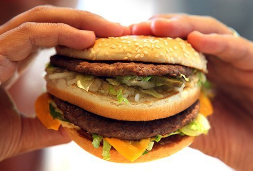 Fatty greasy foods take longer to digest and may contribute to cramps.