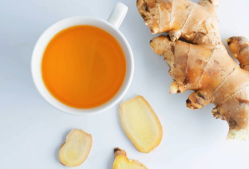 Ginger decreases inflammation, improves menstrual cramps, and aids digestion.