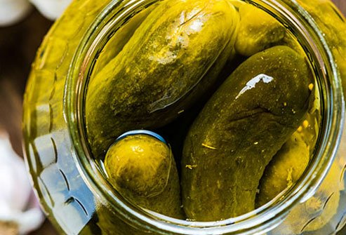 Some athletes swear by pickle juice as a fast way to stop a muscle cramp.