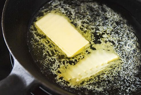 A diet high in saturated fats like those found in butter increases the risk of heart disease and high cholesterol.