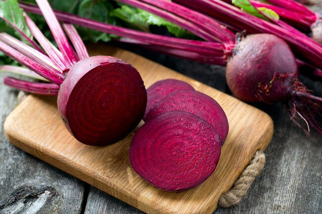 Nitrate in beets is converted into nitric oxide which improves blood flow.