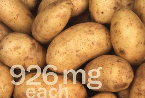 Potatoes are a good source of potassium and B vitamins.