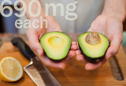 Avocados serve up lots of potassium and fat-soluble vitamins A, C, and E.