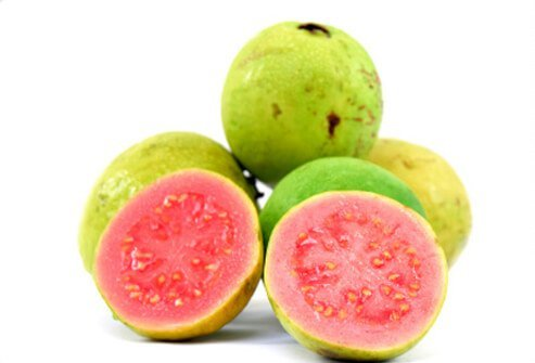 Juicy, sweet, and acidic, the guava's taste might remind you of strawberries and pears.