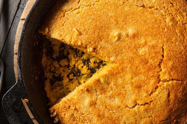 Corn flour is a mealy flour good for cornbread, muffins, pancakes, hush puppies, and polenta.