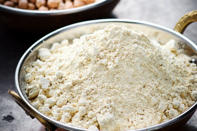 Chickpea flour is often used in Indian dishes.