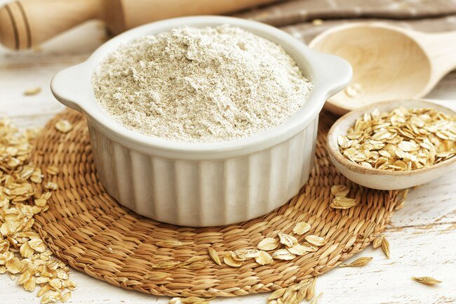 Oat flour is dense and good in desserts and muffins.