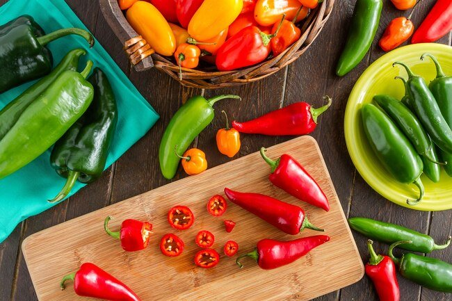 Chilis range from mild to sweet to very hot.