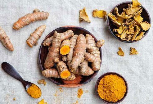 A relative of ginger, this vivid yellow-orange spice is common in Indian, Southeast Asian, and Middle Eastern cooking.