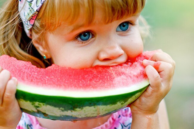 Juicy watermelon is 92 percent water, so it's a simple way to help stay hydrated.