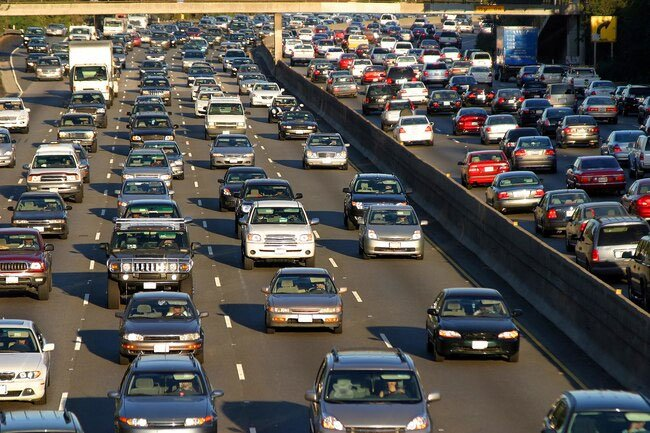 Exhaust from traffic may cause chronic bronchitis.