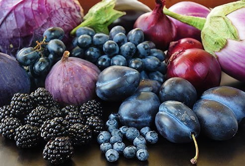 Anthocyanins in purple fruits and veggies give them their nutrient power.