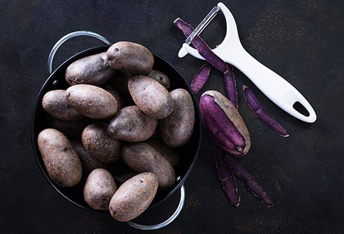 Purple potatoes have 2 to 3 times more antioxidants than white potatoes.