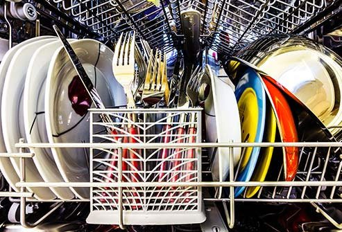 Clean your dishwasher every month to keep them pleasant.