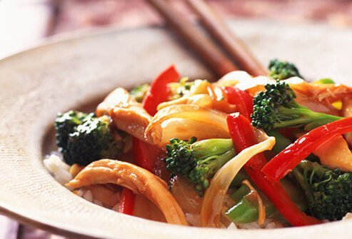 A photo of a Chinese vegetable stir-fry.