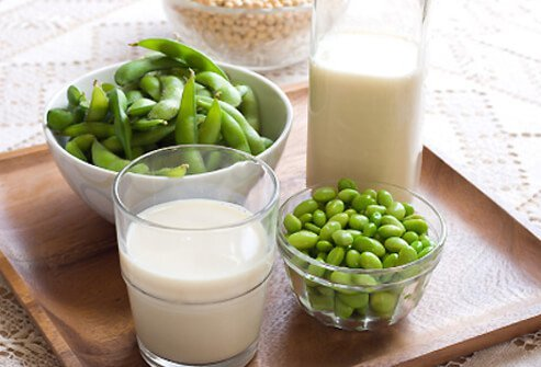 Soy milk contains isoflavones (a flavonoid), and brings lots of nutrition to your diet.