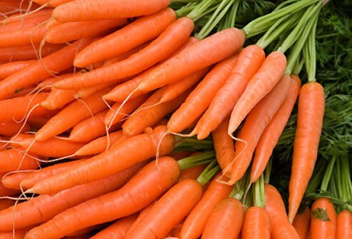 Carrots are probably best known as a great source of carotenes.