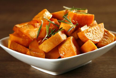 Sweet potatoes are an excellent source of vitamin A.