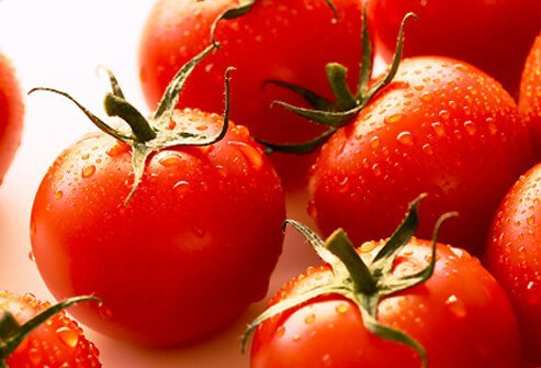 Tomatoes are a versatile heart-healthy food with beta- and alpha-carotene.