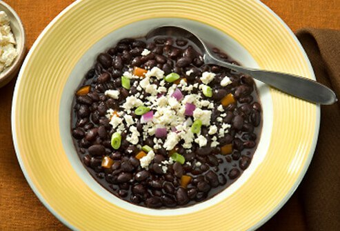 Beans have lots of soluble fiber.