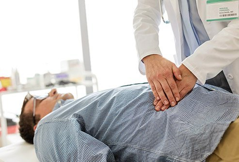 A doctor can usually diagnose a hernia based on a physical exam.