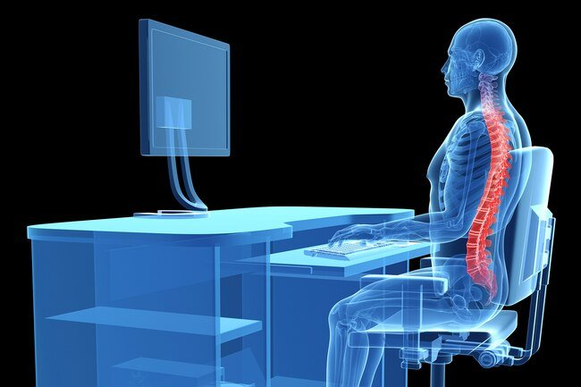 Maintaining good posture will help keep the strain off your spine.