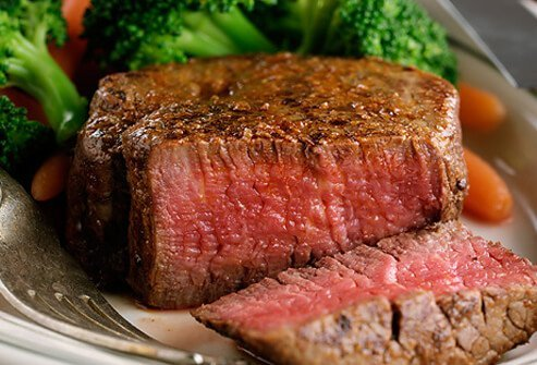 A lean beef steak.