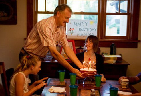 A photo of a family birthday celebration.