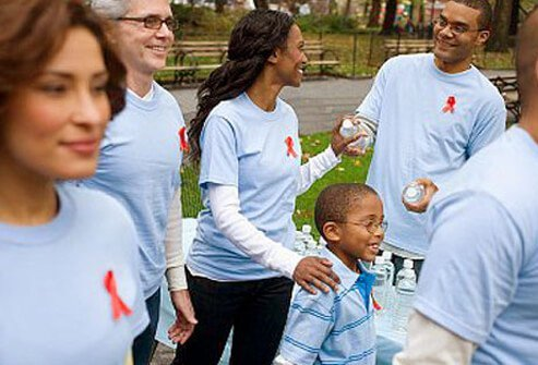 Photo of AIDS/HIV walk for the cure.