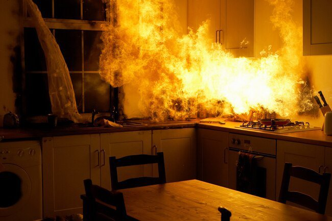 Fires often start when the chef isn't paying attention.