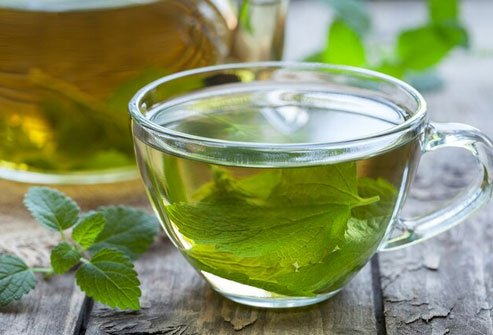 Try drinking peppermint tea or chamomile tea.