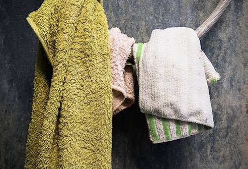 One of the grimiest items in your kitchen is the kitchen towel