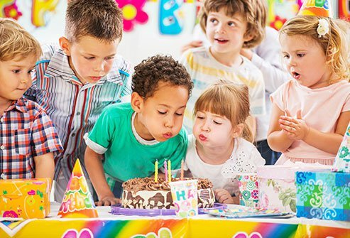 Blowing on a birthday cake can spread a layer of bacteria across the frosting.