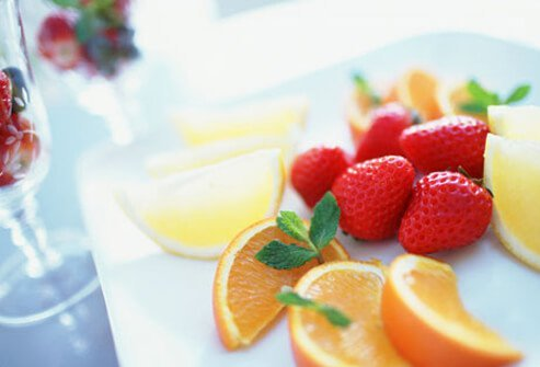 Dietitians say a great alternative to drinking a lot of fruit juice is to eat the whole fruit.
