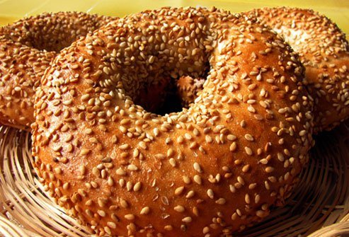 A bagel with sesame seeds is a tasty lunch for some, an allergic trigger for others.