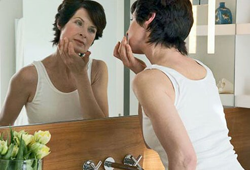 Menopausal women may experience acne breakouts.