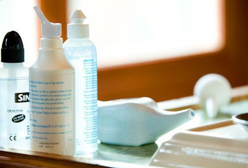 Photo of nasal irrigation products.