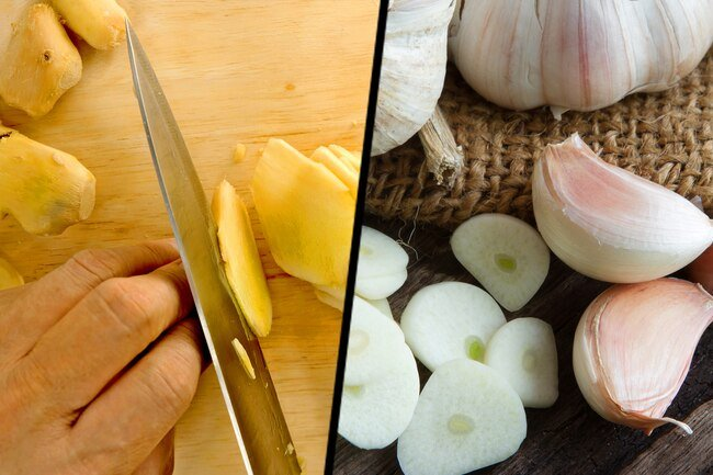 Garlic and ginger have anti-inflammatory compounds that might ease your asthma symptoms.