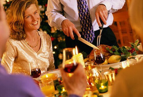 Holiday dinner with family and friends.