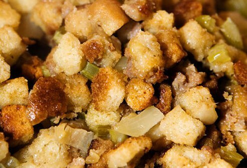 Turkey stuffing with sausage.