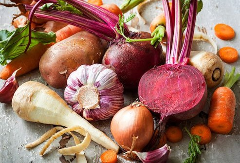 Root veggies and tubers are rich in fiber that helps keep blood sugar steady.